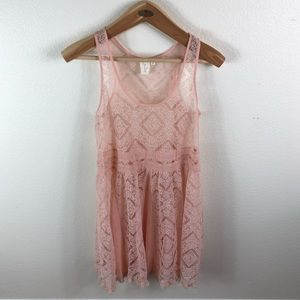 E by Eloise Anthro Pale Pink Lace Dress Intimates